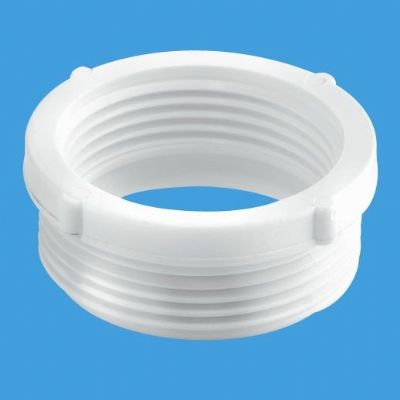 1.1/4 inch Waste Thread Adapter to 1.1/2 inch Trap - 39004006